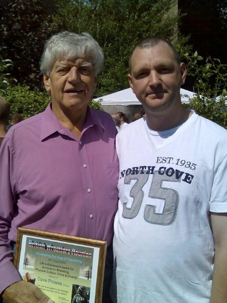 Dave Prowse and Muscles Mansfield