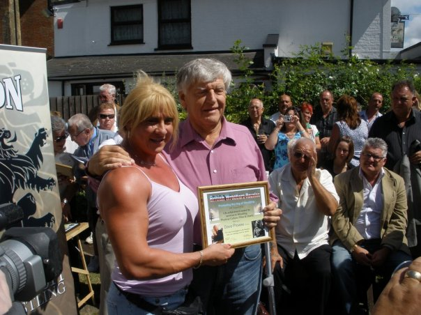 Sarah Bridges and Dave Prowse MBE