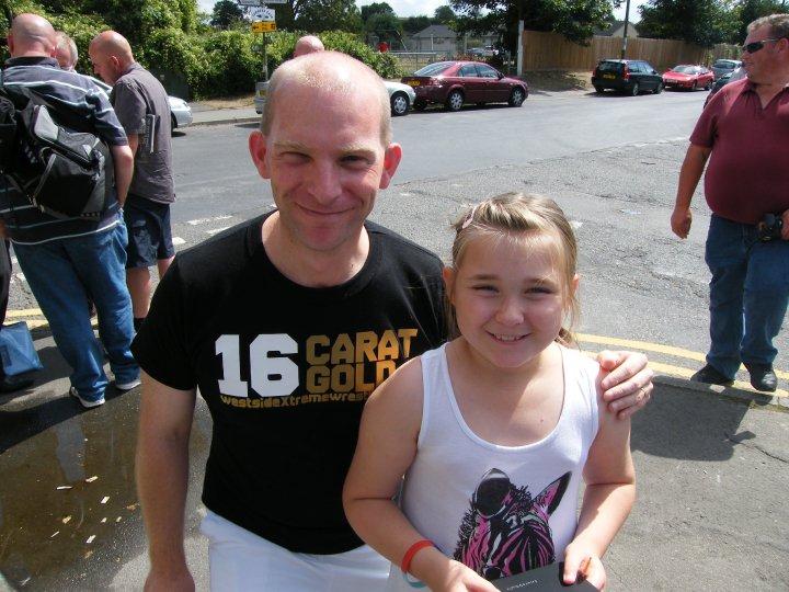 Derek Williams and supporter