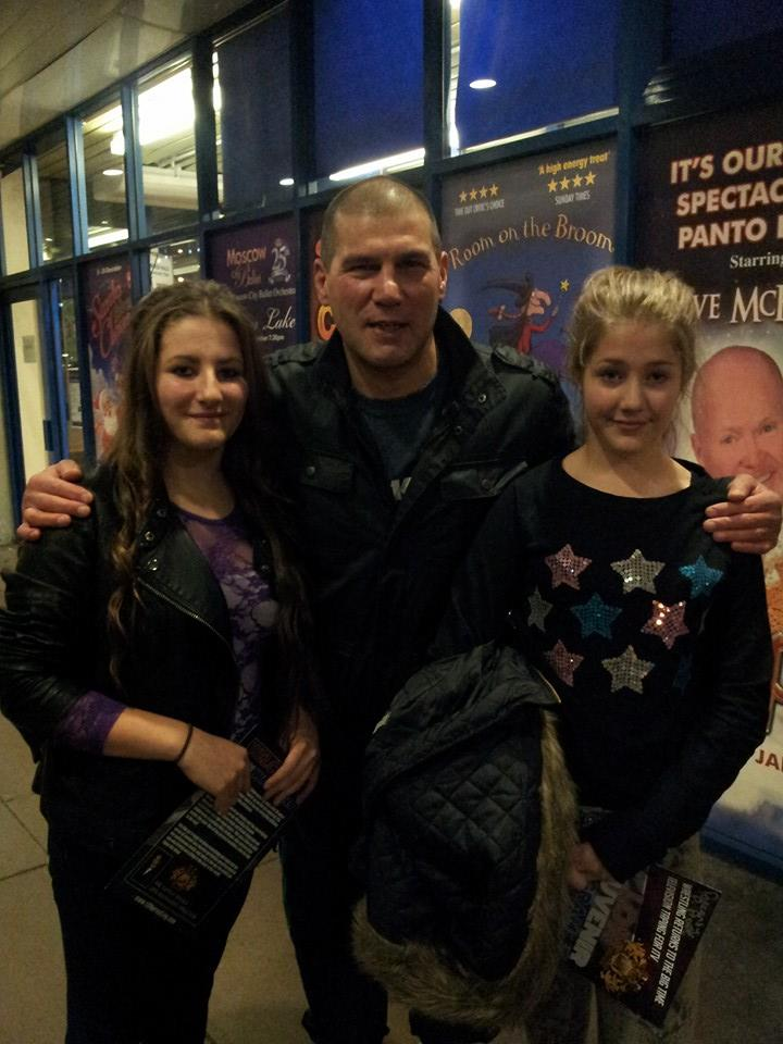 Johnny Kidd with Amber and Summer Yearsley